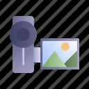camera, filming, movie, video camera icon