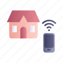 home, remote control, smart, smart house, smartphone icon