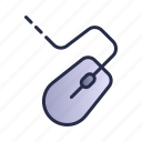 computer mouse, mouse, wire icon