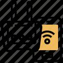 internet, modem, router, signal, wifi