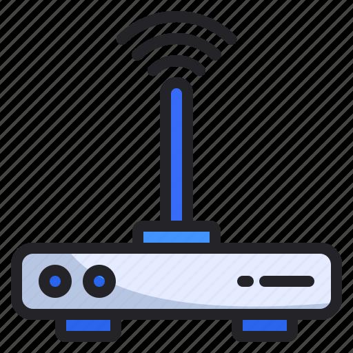 Internet, lan, router icon