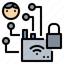 encrypt, hacker, lock, signal, wifi