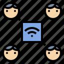hotspot, internet, network, share, team, wifi