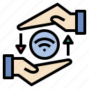 exchange, internet, send, share, signal, transfer, wifi