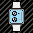 smart, watch, time, technology, smartwatch, device, hand