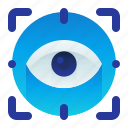 bionetric, detect, eye, iris, scan, scanner icon