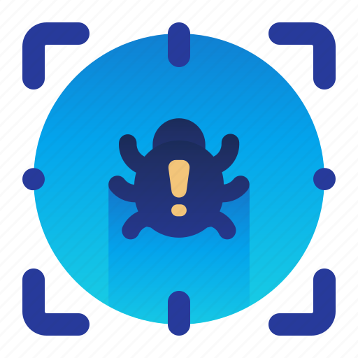 bug, detect, detection, scan, scanner icon