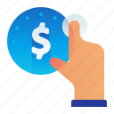 click, cost, dollar, finance, money icon
