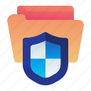file, folder, protection, safety, shield icon