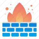 browser, firewall, protection, safety, wall icon