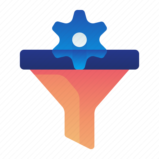 conversion, filter, funnel, options, preferences, settings icon