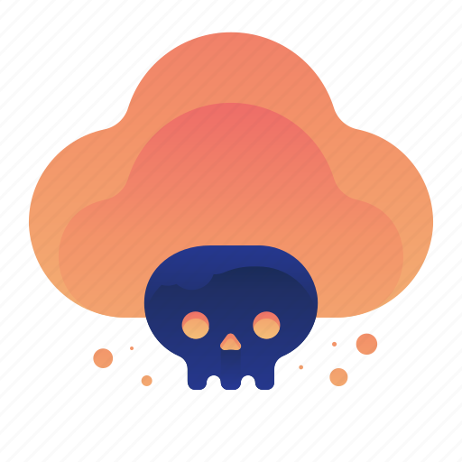 cloud, infected, lethal, storage, virus icon