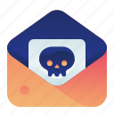 email, infected, lethal, mail, message, virus icon