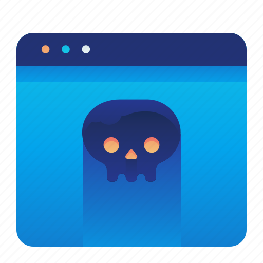browser, infected, lethal, virus, webpage, website icon