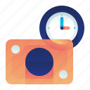 clock, finance, investment, money, time icon
