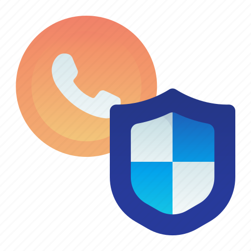 call, phone, protection, safety, shield icon
