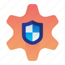 protection, safety, security, settings, shield icon