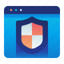 website, shield, webpage, protection, safety, browser