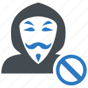 anonymous, anti, cyber crime, hacker icon