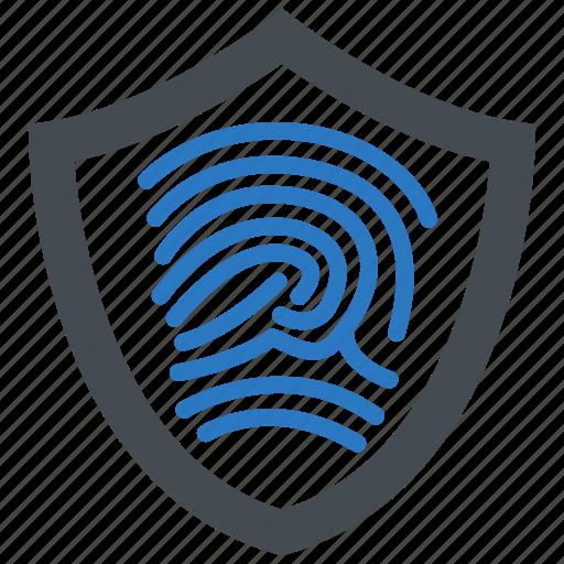biometric, fingerprint, identity, secure icon