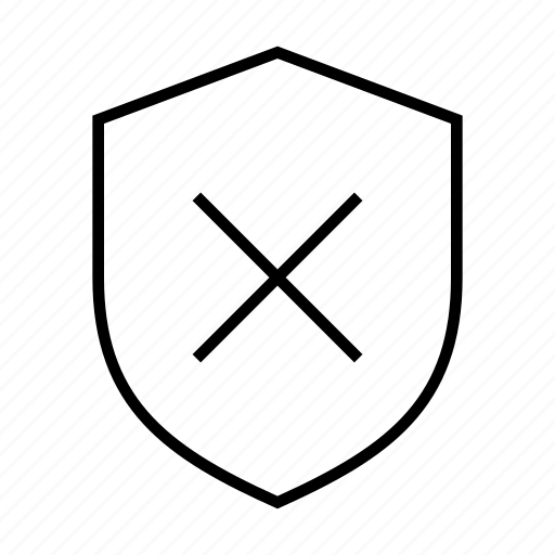 Error, low, privacy, protection, security, shield icon - Download on Iconfinder