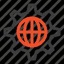 globe, internet, security, world icon