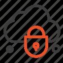 cloud, internet, lock, security icon