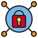 beware, connection, hacker, internet, lock, online, protection icon
