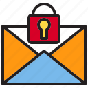 beware, email, hacker, internet, lock, online, protection icon