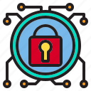 beware, circuit, hacker, internet, lock, online, protection icon