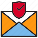 beware, email, hacker, internet, online, protection icon