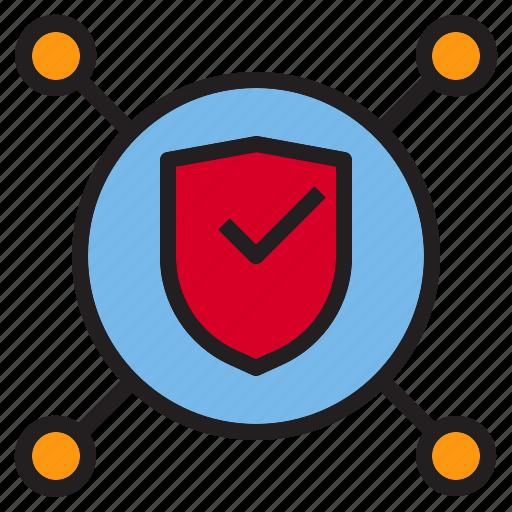 beware, hacker, internet, network, online, protection icon