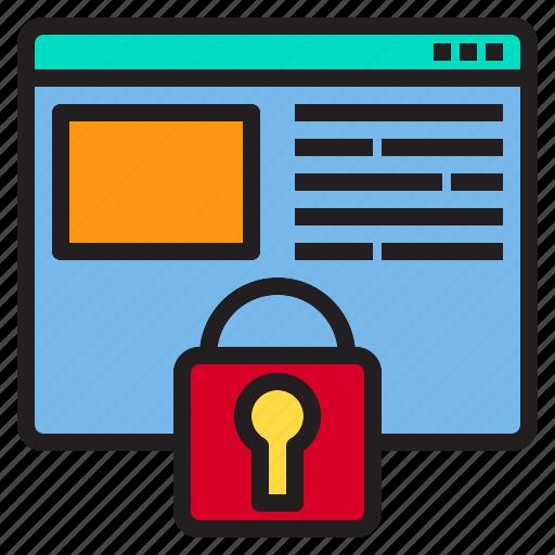 beware, hacker, internet, lock, online, protection, website icon