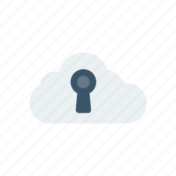 cloud, lock, protection, security icon