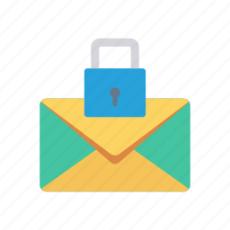 email, lock, safety, secure icon