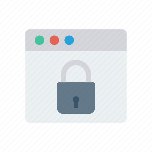 browser, lock, protection, secure icon