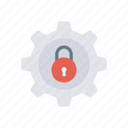 lock, protect, secure, setting icon