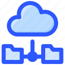 cloud, data, file, folder, sharing icon