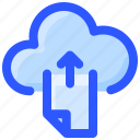 cloud, data, file, internet, upload icon