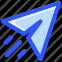 message, paper, plane, send