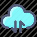 cloud, data, internet, transfer