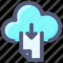 cloud, data, download, file, internet