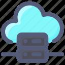 cloud, database, intenet, server, storage