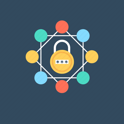 network app security, network security, network services., security technology, security threats icon