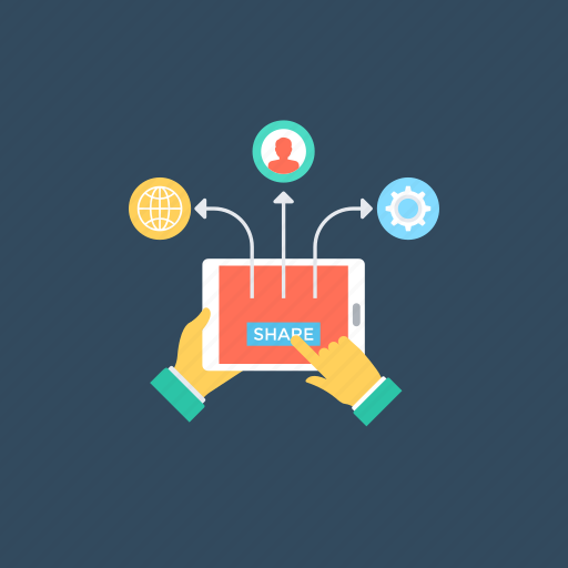 content sharing, exchange of information.., sharing information, social networks, transferring data icon