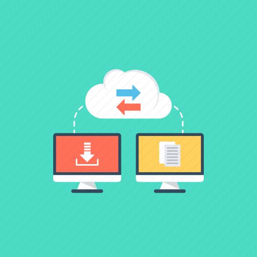 copying data., data sharing, file transfer, receiving files, sending files icon