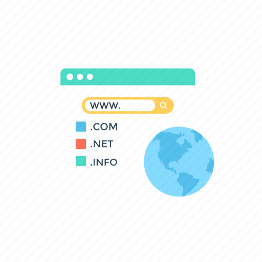 domain extension., ip address, virtual ip, web hosting, web pages, website domain icon