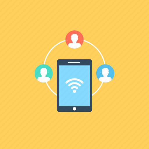 global interaction, internet facility, mobile computing., mobile network, wifi connectivity icon