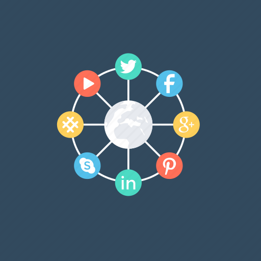 connected networks, interaction with people., social media, social network, websites icon