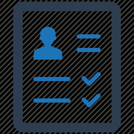 Curriculum Vitae Personal Profile Portfolio Profile Resume Icon